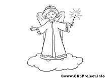Ange clipart – Noël dessins à colorier