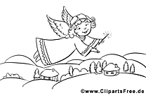 Ange image – Coloriage Noël illustration