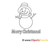Bonhomme de neige clip arts – Noël à imprimer
