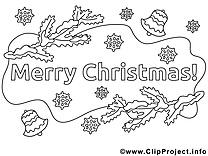 Branches images – Noël gratuit à imprimer