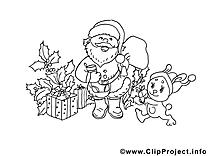 Cadeaux image – Noël images à colorier