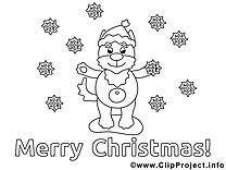 Chien clip art gratuit – Noël à colorier