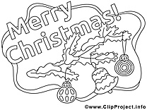 Clochette clipart – Noël dessins à colorier