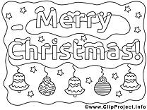 Décoration clip art gratuit – Noël à imprimer