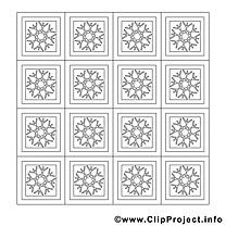 Décoration dessin à télécharger – Noël à colorier