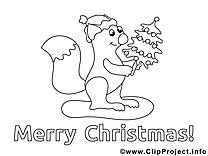 Écureuil images – Noël gratuit à imprimer