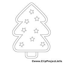 Étoiles sapin illustration – Noël à imprimer