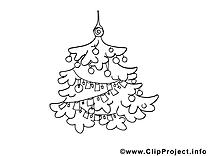 Guirlandes sapin dessin – Noël gratuits à imprimer