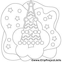 Image gratuite sapin – Noël à imprimer