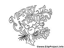 Joyeux noël images gratuites – Sapin à colorier