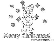 Lièvre images – Noël gratuits à imprimer