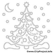 Nuit image à télécharger – Noël à colorier