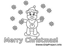Ours clip arts – Noël à imprimer