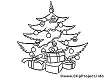 Sapin dessin – Noël an gratuits à imprimer