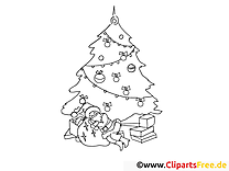 Sapin image – Coloriage Noël illustration