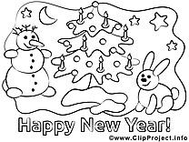 Bon réveillon clip art gratuit – Nouvel an à colorier