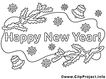 Bon réveillon images – Nouvel an gratuits à imprimer