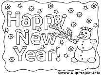Bonhomme de neige cliparts gratuis – Nouvel an à imprimer
