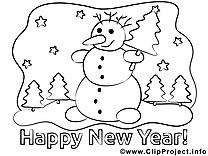 Bonhomme de neige illustration – Nouvel à imprimer