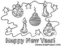Bougies dessin – Nouvel gratuits à imprimer