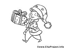 Cadeau illustration – Nouvel an à imprimer