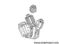 Cadeaux illustration – Nouvel à imprimer