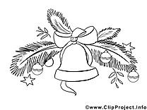 Clochette illustration – Nouvel an à imprimer