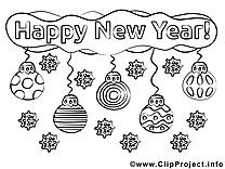 Décoration clip arts – Nouvel à imprimer