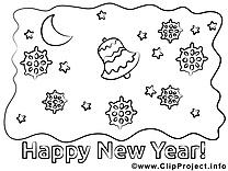 Flocons dessins gratuits – Nouvel an à colorier