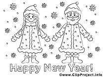 Père Nouvel image gratuite – Nouvel an à imprimer
