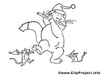 Rats chat images – Nouvel gratuit à imprimer