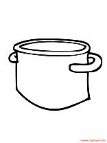 Casserole coloriage