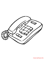 Telephone coloriage