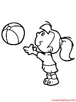 Le jeu du ballon coloriage