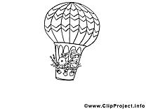 Ballon clip art gratuit – Pâques à colorier