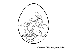 Buisson images gratuites – Pâques à colorier