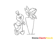 Carotte illustration – Pâques à imprimer