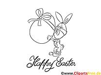 Carte cliparts gratuis – Pâques à imprimer