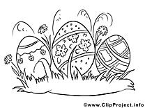 Carte illustration – Pâques à imprimer