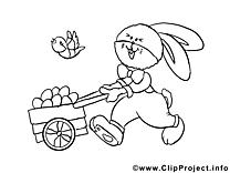 Charrette illustration - Pâques images