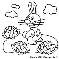 Choux clip art gratuit – Pâques à colorier