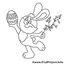 Clip art fête – Pâques image à colorier