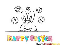 Clip art gratuit lapin – Pâques à imprimer