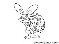 Clip art gratuit oeuf – Pâques à imprimer