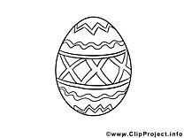 Clip art oeuf – Pâques image à colorier