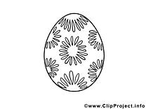 Clipart oeuf – Pâques dessins à colorier