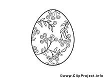 Coloriage oeuf pâques image à télécharger