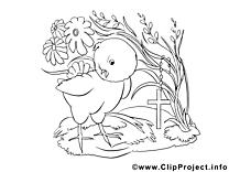 Croix image à télécharger – Pâques à colorier