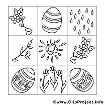 Décoration image gratuite – Pâques à imprimer