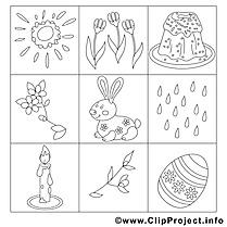 Décoration images – Pâques gratuits à imprimer